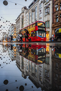 Reflection of Oxford Street