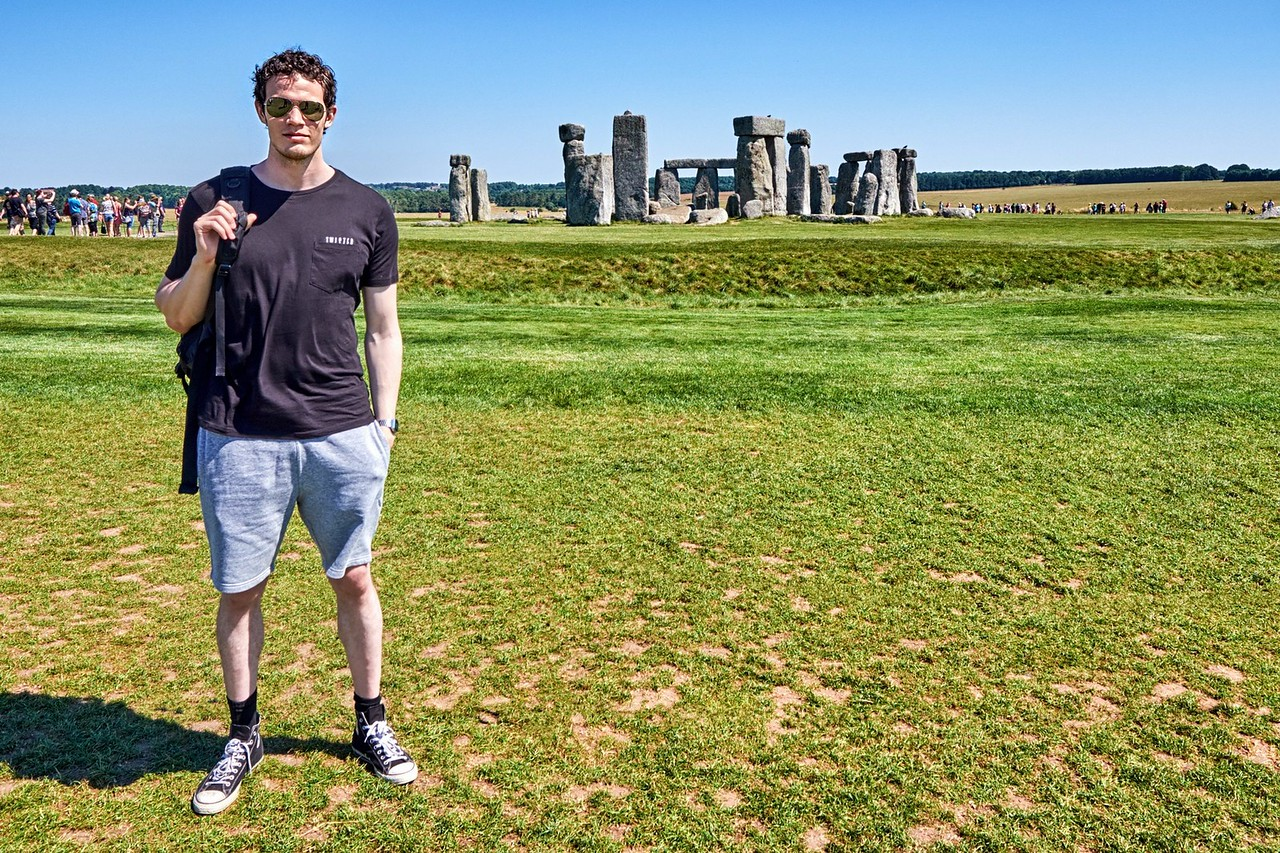 Rúnar at Stonehenge