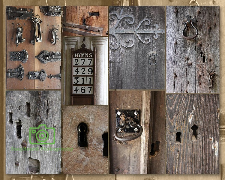 Key, Door and Lock Collage