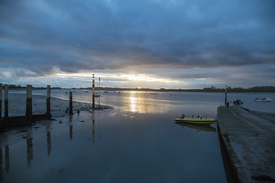 Bosham quay at sunset
