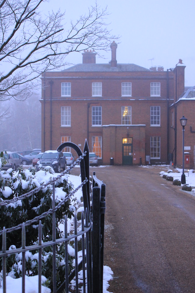 Cumberland Lodge, Windsor Great Park, in snow