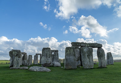 Stonehenge with brilliant sky