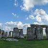 Stonehenge with brilliant sky