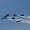Red Arrows display at Americas Cup, Southsea