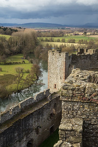 The view from Ludlow Castle