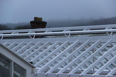 Geometric roof,  West Dean Gardens