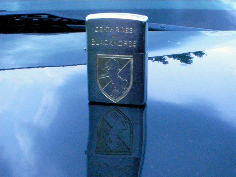 Daylight picture of the Blackhorse side of the completed lighter.