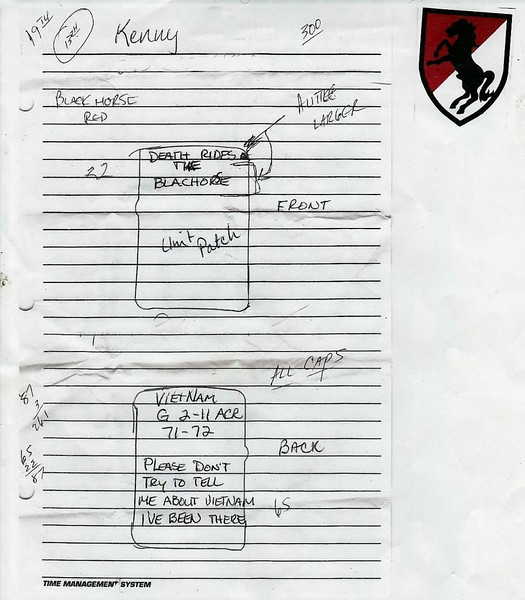 Original draft of the design the client was requesting.