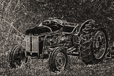 Tractor in edges and B&W - 5/30/09