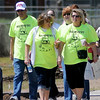 Walk This Way 2013 participants complete their first mile of the six-week contests by walking the Enid Trails from Cleveland to Van Buren Saturday, April 13, 2013. During the six-weeks individuals are asked to walk 1,100 minutes to be eligible to win prizes. The Garfield County Health Department is encouraging contestants to get healthy by moving. (Staff Photo by BONNIE VCULEK)