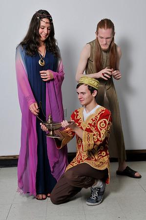 Kuyler Winbolt, Aladdin, Suzanna Davidson, Princess and Daniel Johnson, Evil Magician. (Staff Photo by BILLY HEFTON)