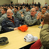 Team Vance reacts as Professional performers receive recognition during the CUI picnic at the Armed Forces Reserve Center Thursday, April 18, 2013. Inspector General Coin recipients were Capt. Jon Bravinder, Chaplain, Master Sgt. Kendall Kirk, contracting officers representative superintendent, Staff Sgt. Amanda Lenamon, a non-commissioned officer in charge of the 71st Medical Group Family Practice Clinic and Deputy Chief of the Exercise Evaluation Team, Sen. Airman Taylor Buchea, NCOIC 3rd Flying Training Squadron Aviation Resource Management and Mr. Wayne Anderson, 71st Student Squadron Registrar. (Staff Photo by BONNIE VCULEK)