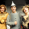 "Jake Scott (left), portrays the Cowardly Lion, Evan Chermack (center) plays the Tin Man while Michael Johnson is the Scarecrow during the Enid High School musical ""The Wiz"" during a rehearsal Tuesday, April 23, 2013. The production, under the direction of Linda Outhier and Randy Johnson, is Thursday-Friday, April 25-26 in the Enid High School Auditorium. (Staff Photo by BONNIE VCULEK)"