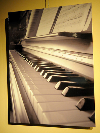 """Piano Keys"" by Sarah Youn, from Enid High School, won first place in Division III - Photography during the Pioneer Cellular Smokin' Red Dirt Arts Festival exhibit at the Cherokee Strip Regional Heritage Center. (Staff Photo by BONNIE VCULEK)"