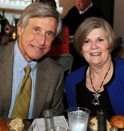 "John and Susan Bowers pause for a portrait before they were honored with the ""Leonardo's Legacy"" award during the annual dinner and auction at Leonardo's Children's Museum Thursday, April 04, 2013. (Staff Photo by BONNIE VCULEK)"