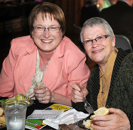 Cheryl Swanson and Paula Nightengale (Staff Photo by BONNIE VCULEK)