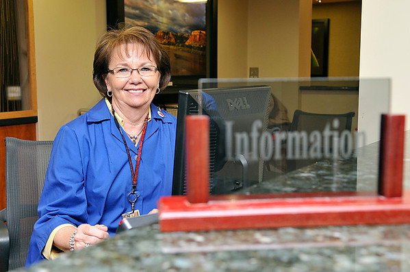 Ruth Dobbs, volunteer at St. Mary's Regional Medical Center. (Staff Photo by BILLY HEFTON)