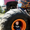 Children check out Bruce Kunkel's Sudden Death monster truck during a picnic at Meadowlake Park Sunday, April 21, 2013. (Staff Photo by BONNIE VCULEK)