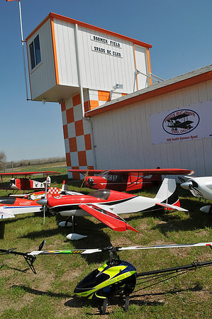 Radio controlled planes and helicopters at Boomer Field home of the SPADS RC Club. (Staff Photo by BILLY HEFTON)