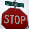 Ice coats STOP and street signs as a winter storm moves through Enid Wednesday, April 10, 2013. (Staff Photo by BONNIE VCULEK)