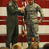Col. Darren James and Master Kendall Kirk (Staff Photo by BONNIE VCULEK)