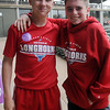 Grant Dick (left) and Caleb Craig finished the March of Dimes' March for Babies 5K first at David Allen Memorial Ballpark Saturday, April 27, 2013. The two, who were both born prematurely, were members of Team Craig. (Staff Photo by BONNIE VCULEK)