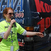 Maggie Jackson, the Walk This Way 2013 event organizer, welcomes everyone to the kick-off Saturday, April 13, 2013. (Staff Photo by BONNIE VCULEK)