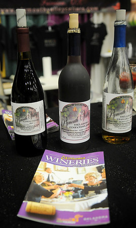 Guests will be able to sample wines from Plymouth Valley Cellars and other Oklahoma wineries during the Enid Home Show at the Chisholm Trail Coliseum and Expo Center Friday-Sunday, April 26-28, 2013. (Staff Photo by BONNIE VCULEK)