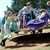 Third grade students from Chisholm Elementary School enjoy recess during their Turkey Creek School days at Humphrey Heritage Village Wednesday, April 23, 2014. (Staff Photo by BONNIE VCULEK)