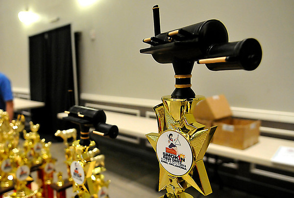 Grand Championship trophy of the Red Dirt Barbeque. (Staff Photo by BILLY HEFTON)
