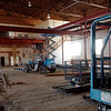 Construction continues inside the future Enid Public Schools' administrative services building Thursday, April 24, 2014. (Staff Photo by BONNIE VCULEK)