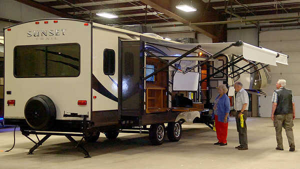 Guests at the 39th annual Enid Home Show are able to tour several RV and camping trailers at the Chisholm Trail Expo Center. (Staff Photo by BONNIE VCULEK)
