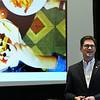 Chris Chanski, Vice President AdvancePierre Foods, speaks during the ERDA Future of Food forum Thursday April 13, 2017 at the Central National Bank Center. (Billy Hefton / Enid News & Eagle)
