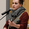 Chloe-Beth Campbell performs during the 26th Annual Crime Victims' Vigil Tuesday April 4, 2017 at the YWCA Enid. (Billy Hefton / Enid News & Eagle)