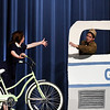 """Thomas Kenney and Baylee Fitzgerald rehearse the Eind High production of """"All Shook Up"""" Wednesday April 19, 2017 at the Enid High School auditorium. (Billy Hefton / Enid News & Eagle)"""