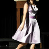 """Ashton Davis rehearses the Eind High production of """"All Shook Up"""" Wednesday April 19, 2017 at the Enid High School auditorium. (Billy Hefton / Enid News & Eagle)"""