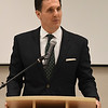 District Attorney, Mike Fields, addresses the 27th Crime Victim's Vigil Tuesday April 10, 2018 at the YWCA Enid. (Billy Hefton / Enid News & Eagle)