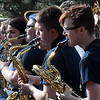Members of the Enid High School Jazz II perform during the Event sponsored by the Enid Public School Foundation Monday April 30, 2018 at Humphrey Heritage Village. (Billy Hefton / Enid News & Eagle)