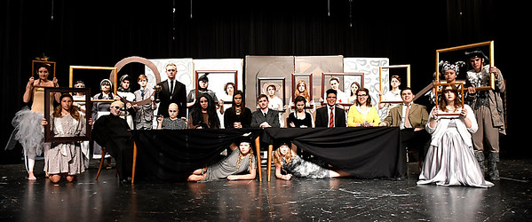 "Cast of the Enid High production of ""The Addams Family"" Wednesday April 18, 2018. (Billy Hefton / Enid News & Eagle)"