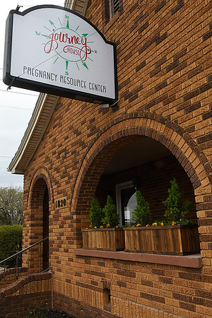 Journey House pregnancy resource center held it's ribbon cutting Monday April 9, 2018. (Billy Hefton / Enid News & Eagle)