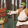 "Nolan Riggins ""Shrek"" performs a song during rehearsal of the Enid High School production of ""Shrek the Musical"" Thursday April 18, 2019 at the Enid High auditorium. (Billy Hefton / Enid News & Eagle)"