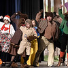 "Cast Members rehearse the Enid High School production of ""Shrek the Musical"" Thursday April 18, 2019 at the Enid High auditorium. (Billy Hefton / Enid News & Eagle)"