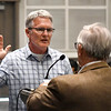Scott Orr (right) is sworn in as Ward 6 commissioner by Mayor George Pankonin Tuesday, Aprill 6, 2021 at the Stride Bank Center. (Billy Hefton / Enid News & Eagle)