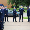 Col. Darren James gestures as he addresses members of the Joint Specialized Undergraduate Pilot Training Class 13-13 before graduation ceremonies Friday at vance Air Force Base. (Staff Photo by BILLY HEFTON)