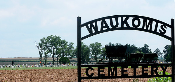 Proceeds from the Waukomis Sooner Celebration 5K Run August 24 likely will go toward capital improvements at the Waukomis cemetery.  (Staff Photo by BILLY HEFTON)