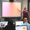 "Kristie Nichols leads a workshop about the program ""My Big Campus"" during the EPS•it seminar Thursday at Enid High School. (Staff Photo bu BILLY HEFTON)"