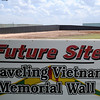 The concrete walls for the retired Vietnam Memorial Wall have been painted black at the Enid Woodring Regional Airport. Workers will begin installing an irrigation system and landscape the site next week. (Staff Photo by BONNIE VCULEK)