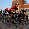 Cyclist take off on the annual Tour de Tryke bike ride Saturday. (Staff Photo by BILLY HEFTON)