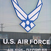 The U.S. Air Force insignia appears near the entrance to the local recruiting office. T.Sgt. Luis A. Davila, Sr. serves as the Air Force recruiter. (Staff Photo by BONNIE VCULEK)