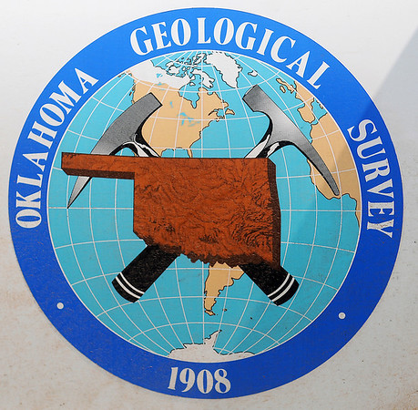 Oklahoma Geological Survey Logo (Staff Photo by BONNIE VCULEK)